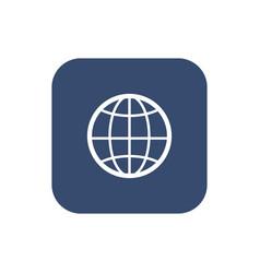 the globe icon globe symbol flat vector image vector image