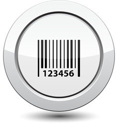 Button with Barcode Icon vector image