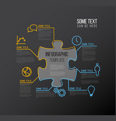 Puzzle infographic report template vector