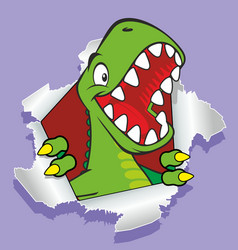 tyrannosaur vector image