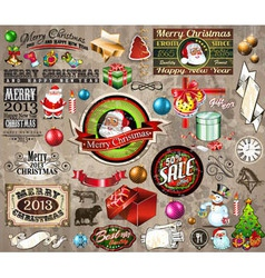 2013 Christmas Vintage typography vector image vector image