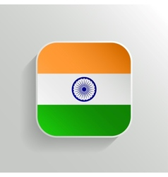 Button - India Flag Icon vector image vector image