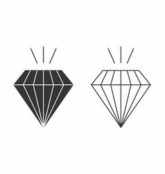 flat of diamonds vector image