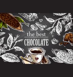 sketch chocolate vector image
