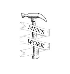 Sketchy Hammer vector image vector image