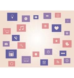 social media elements vector image vector image