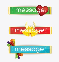 web creative colored banners set isolated vector image vector image