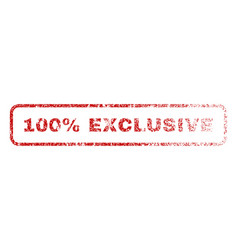 100 percent exclusive rubber stamp vector image