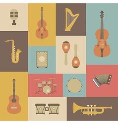 161grunge music instrument vector