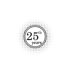 25 years anniversary sign element of anniversary vector image