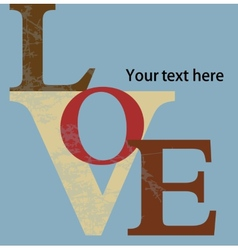Abstract background love letters vector