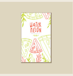 Abstract card with sweet summer fruit hand drawn vector