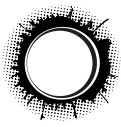 Abstract round frame with ink spots vector image