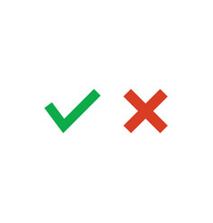 approved green yes tick an rejected red cross vector image