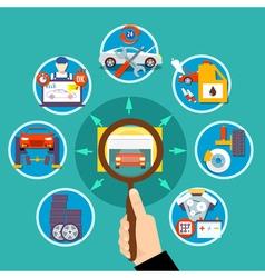 Auto service circle design concept vector