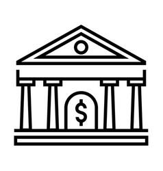 Bank solid vector