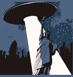 Banner on theme ufos in usa vector
