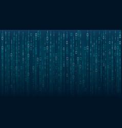 binary matrix code on screen vector image