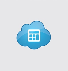 Blue cloud calculator icon vector image