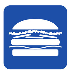Blue white information sign - hamburger icon vector
