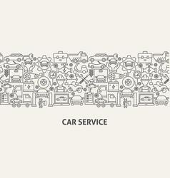 Car service banner concept vector
