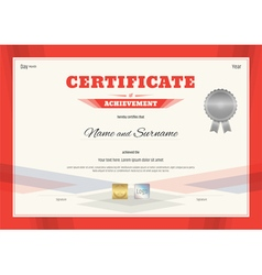 Certificate template in modern red theme vector image