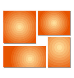 Circle backgrounds template set with different vector
