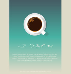 coffee cup poster vector image