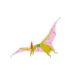 colorful pterosaur dinosaur cute prehistoric vector image