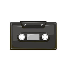 compact audio cassette analog magnetic tape record vector image