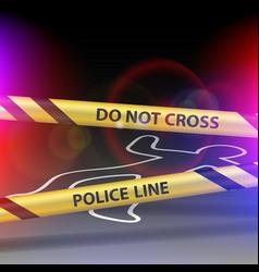Crime scene do not cross yellow warning tape vector
