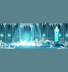 Dead castle frozen throne room cartoon vector