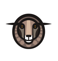 Drawing head of sheep vector