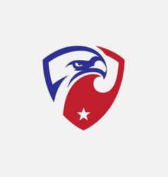 eagle shield icon design vector image