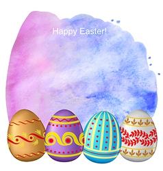 Easter watercolor back vector