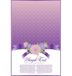 Elegant violet background vector image