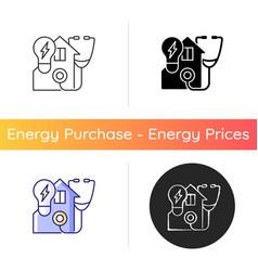 Energy audit icon vector