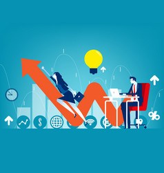 Entrepreneur startup concept business vector