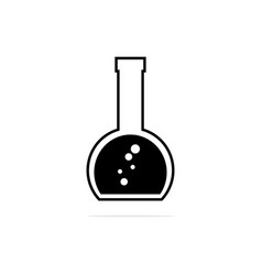 erlenmeyer flask icon concept for vector image