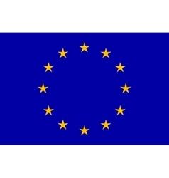EU flag in closeup vector