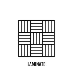 Flat icon laminate finishing materials floor vector