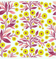 Floral seamless pattern and flowers vector