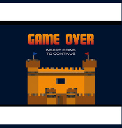 Game over design vector