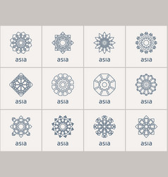 geometric symbols set vector image