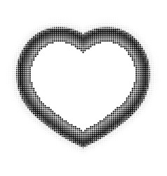 Halftone heart vector