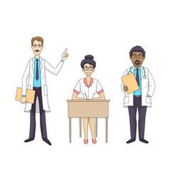 hospital medical staff vector image