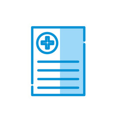 Isolated medical history icon design vector