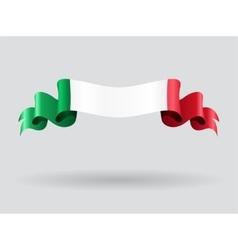 Italian wavy flag vector