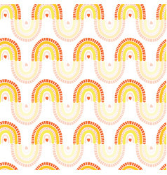 kids rainbow seamless pattern repeating vector image