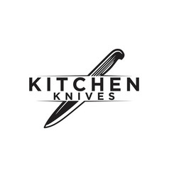knife kitchen logo designs inspiration isolated vector image